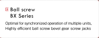 Ball screws BX Series