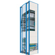Variable height vertical automated storage (Shuttle)